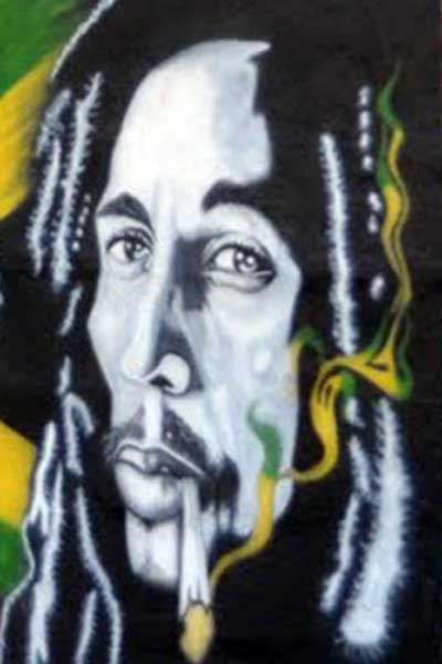 Jamaican history celebrating 50 years of jamaican for Bob marley mural